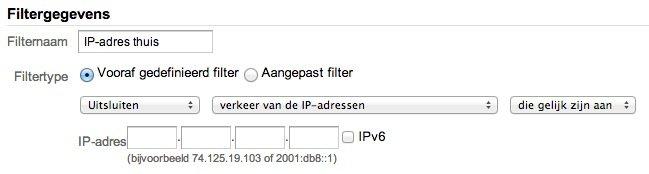 Google Analytics Filternaam