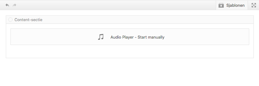 Audio Player uitleg